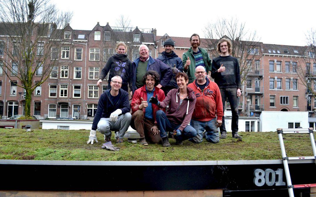 Amsterdam is een groen dak rijker