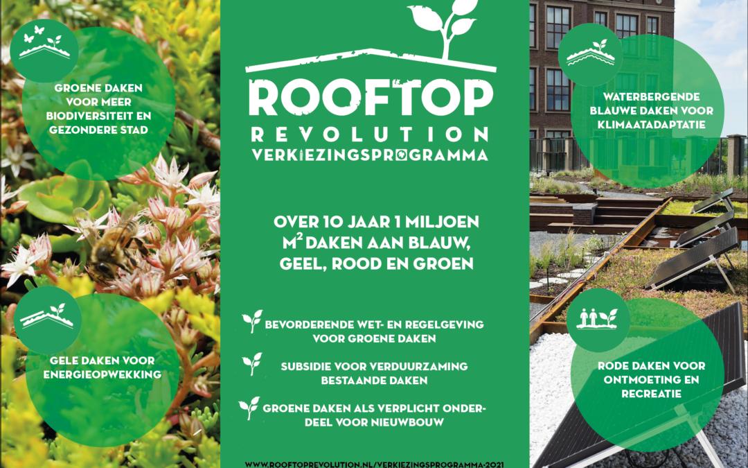 Rooftop verkiezingsprogramma 2021: alle daken benut!
