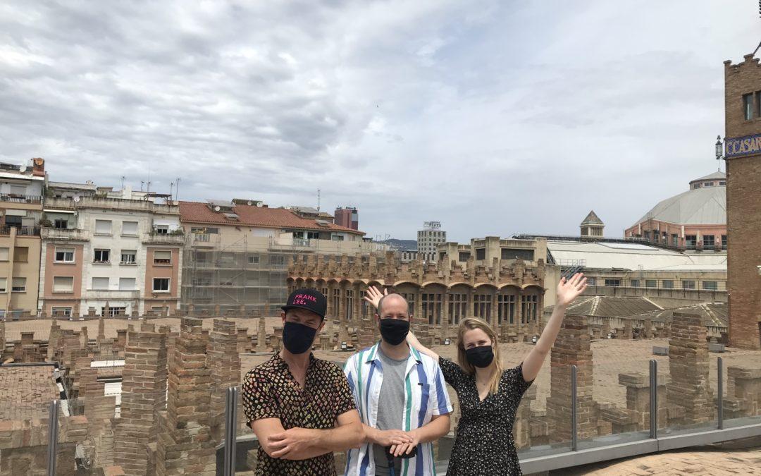 Rooftopper Anne op dakentour in Barcelona